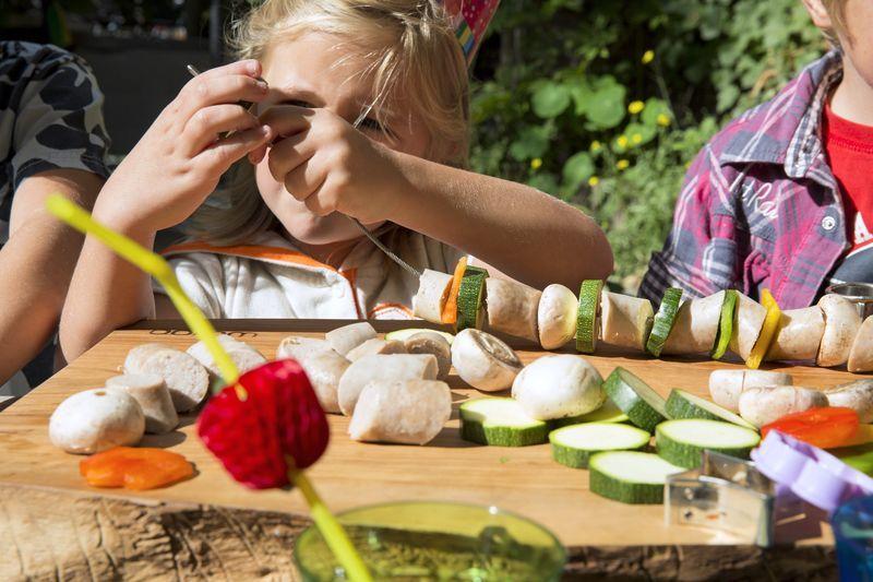 Vorbereitung Gemüsegirlanden