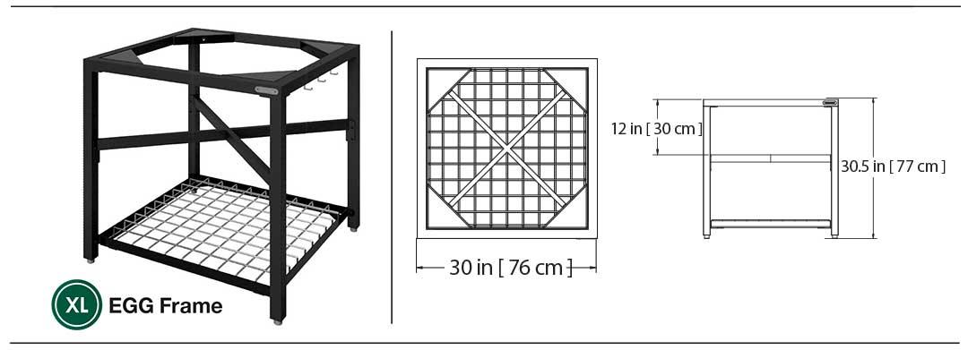Maße Modulares Nest System X-Large