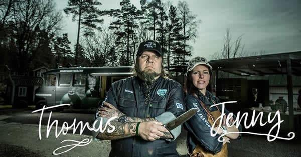 Thomas und Jenny vom Big Green Egg Wildfire Truck