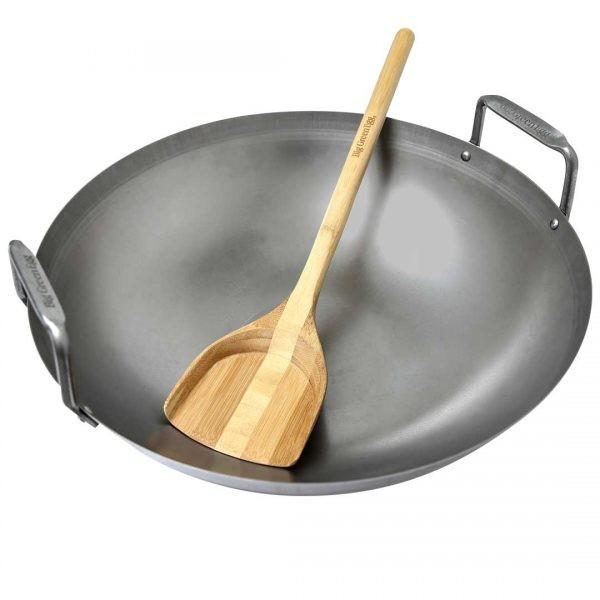 Grill-Wok aus Kohlenstoffstahl