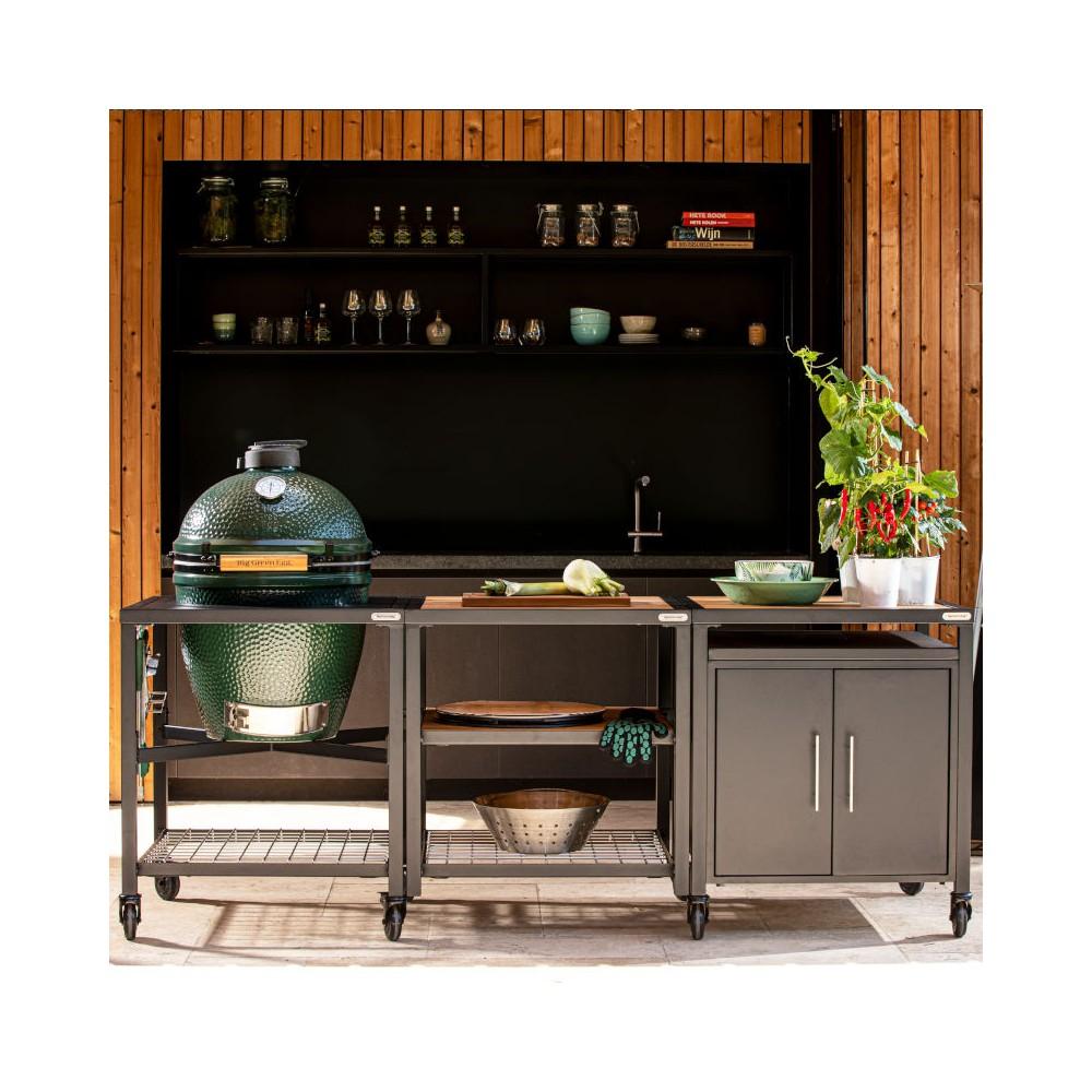 Large Outdoorküche mit Schrank
