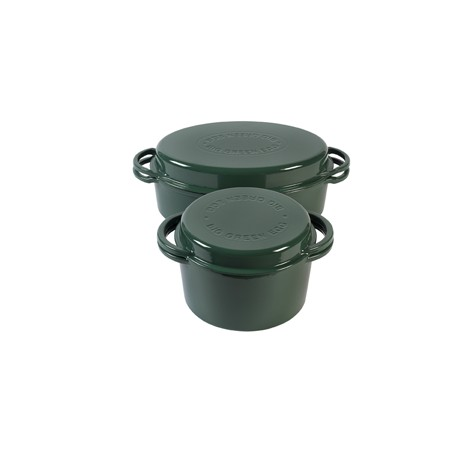 Green Dutch oven rund