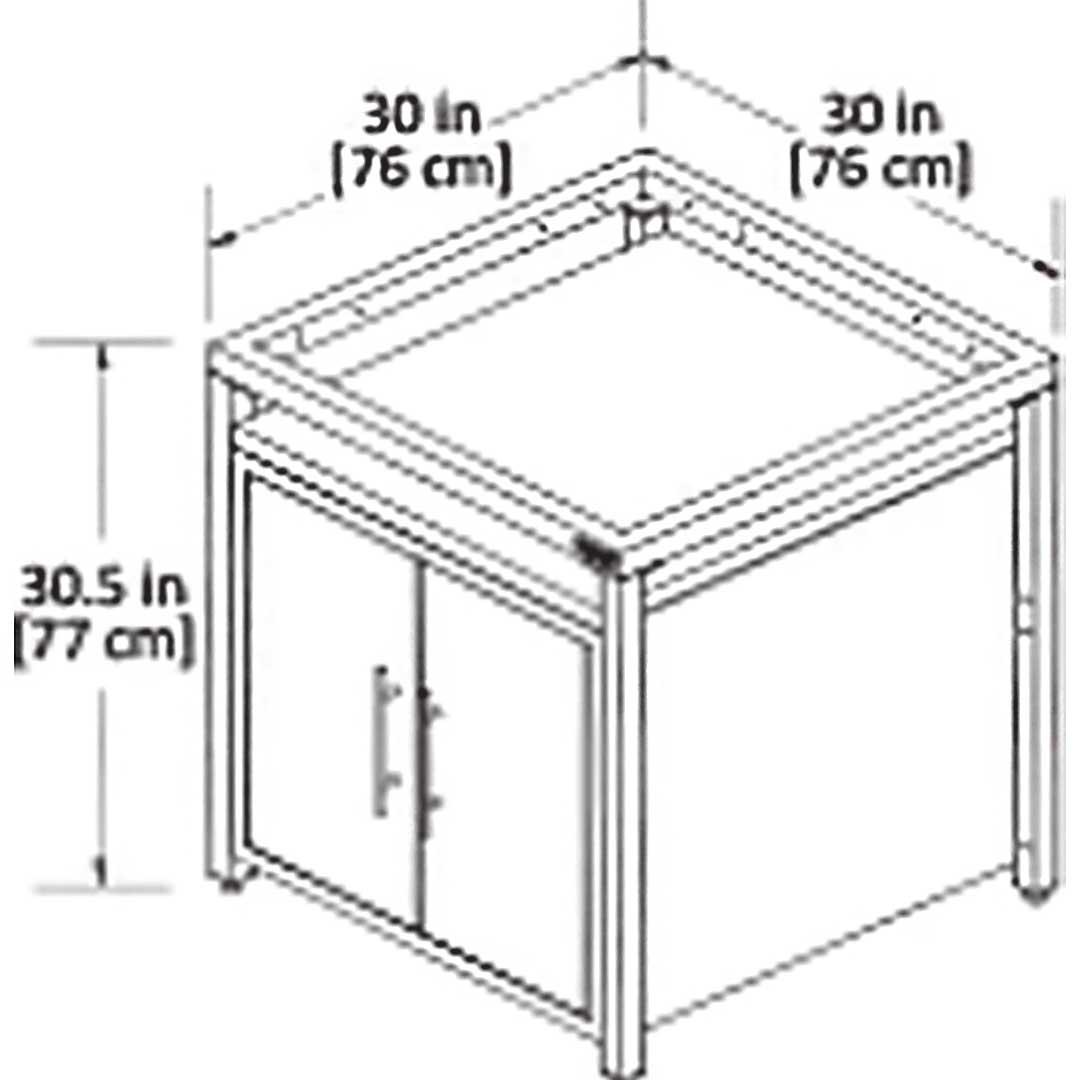 Zeichung Modulares Nest System Schrank
