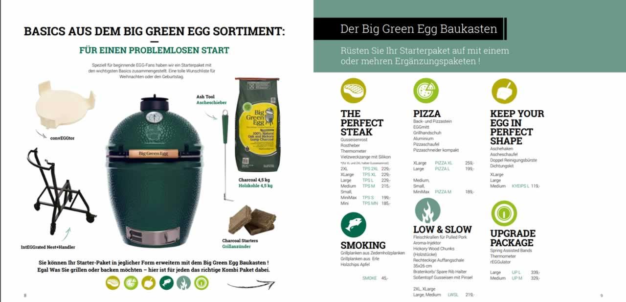 Katalogseite Big Green Egg