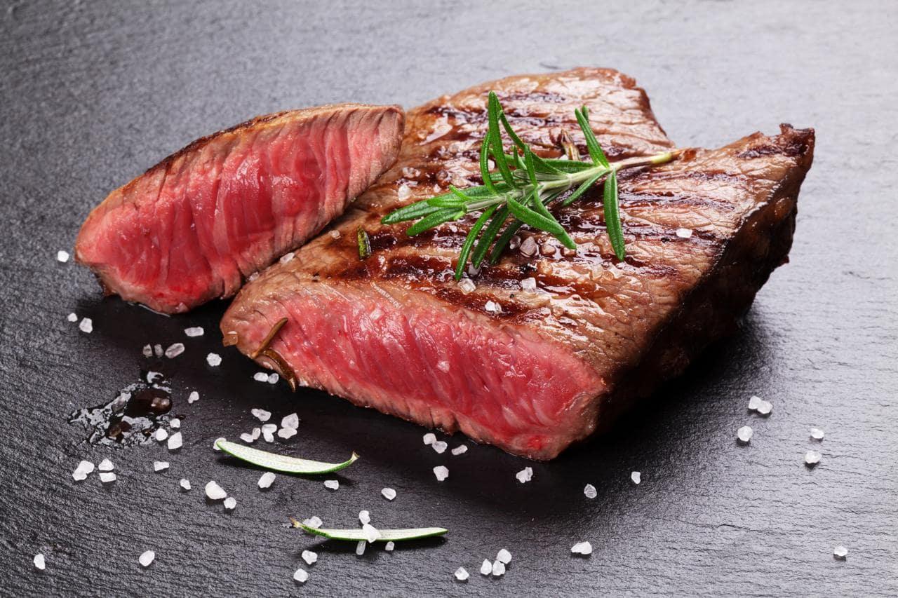 Flank Steak vom Almochsen gegrillt