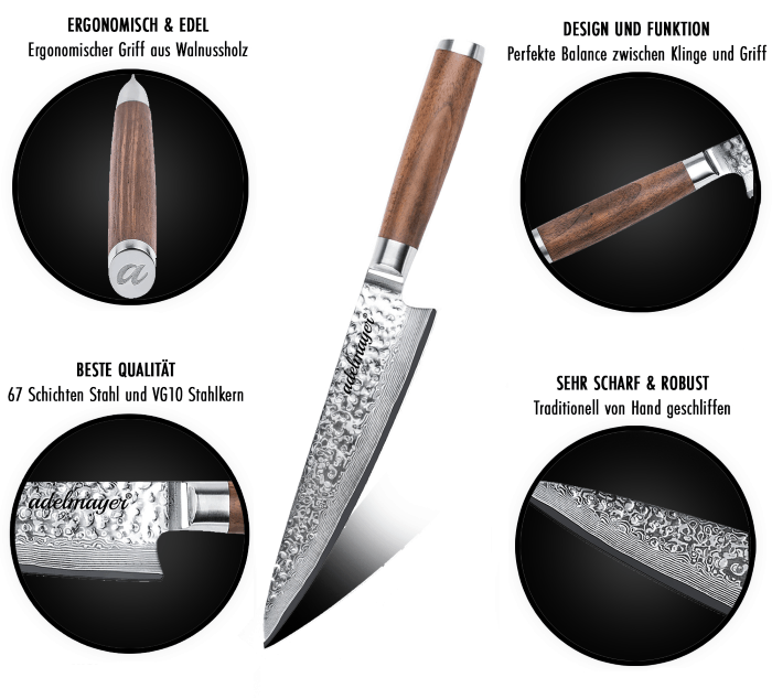 Beschreibung und Eigenschaften des Messers