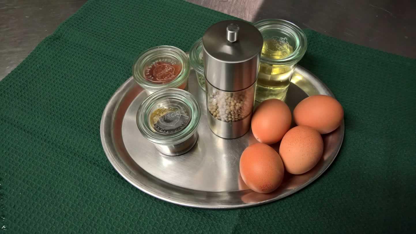 Vorbereitung Sauce Bearnaise