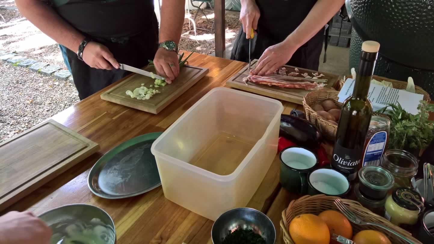 Vorbereitung Flammkuchen