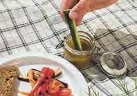 Gegrilltes Gemüse mit Sardellendip