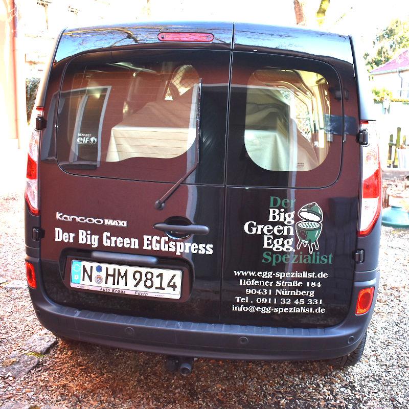 Eggspezialist Lieferauto von hinten
